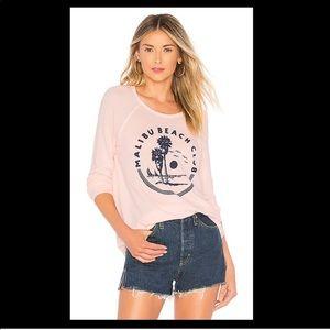Sundry Malibu Beach Club Pullover Sweatshirt Petal